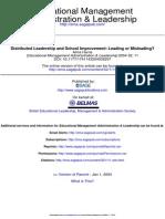 Distributed leadership towards school improvement