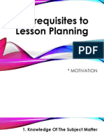 Prerequisites to Planning-Educ 4A