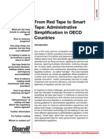 From Red Tape to Smart Tape Administrative Simplification in OECD Countries
