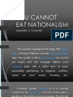 You Cannot Eat Nationalism(Essay)