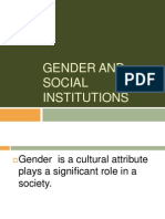 Gender and Social Institutions
