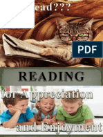 Reading for Appreciation and Enjoyment