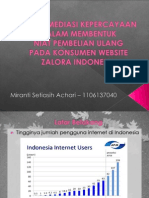 Peran Mediasi Kepercayaan Dalam Membentuk Niat Pembelian Ulang Pada Konsumen Website Zalora Indonesia