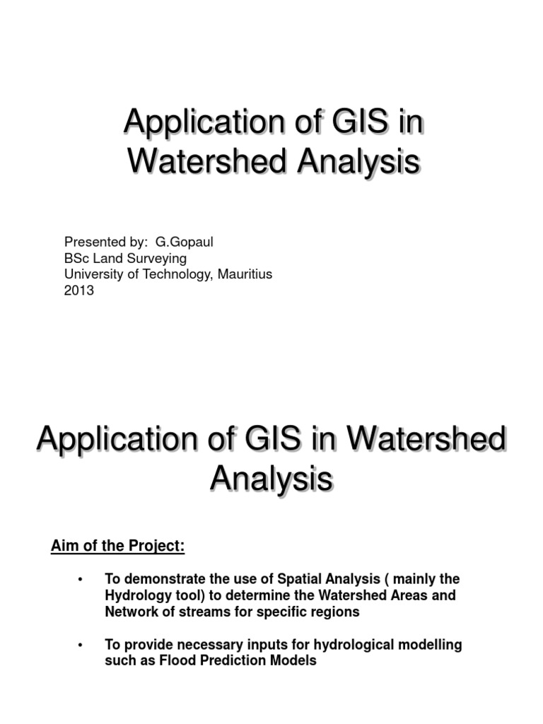 Watershed Analysis with ArcGIS   Drainage Basin   Stream