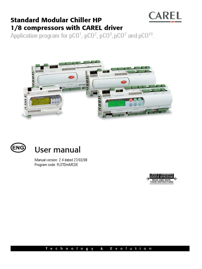 carel controler.pdf | Heat Pump | Heating, Ventilating, And Air Conditioning