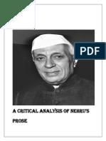 A Critical Analysis of Nehru
