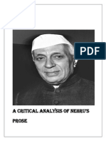 A Critical Analysis of Nehru