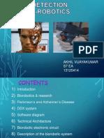 Disease detection using bio-robotics