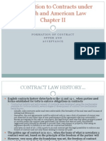 Formation of Contract - Offer and Acceptance