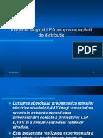 Influenta Lungimii Lea Asupra Capacitatii de Distributie Pt Net