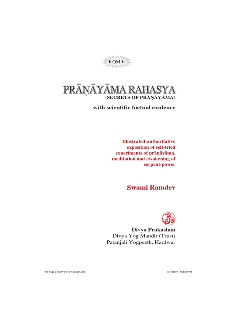 Pranayama Rahasya Breathing Yoga