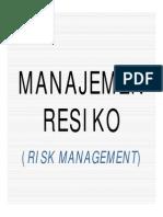PPI-7 Manajemen Resiko (Risk Management)