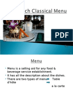 French Classical Menu Presentation