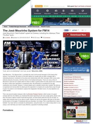 The José Mourinho System for FM14 | Defender (Association Football