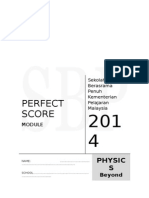Modul Perfect Score SBP Physics SPM 2014 Skema