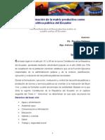 1Ensayo La Transformacion de la matriz productiva como politica publica del Ecuador.pdf