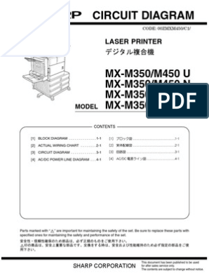 Sharp MX-M450 Circuit Diagram | Manufactured Goods | Media Technology
