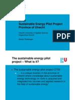 sustainable energy pilot