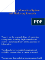 Lecture 9a Marketing Information System and Research