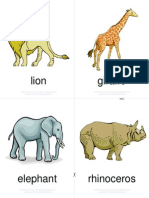 Flashcards - Wild Animals