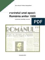 A.d - Romania Anilor 30 Portretul Unei Epoci