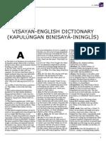 Visayan English Dictionary