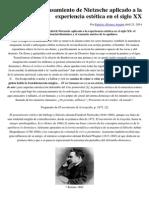 El pensamiento de Nietzsche aplicado a la experiencia estética en el siglo XX.pdf