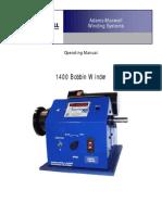 Adams Maxwell Model 1400 Coil Winding Machine Manual