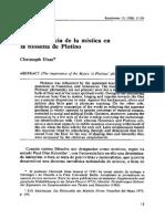 La importancia de la mistica en la filosofía de Plotino.pdf