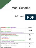 Yr 12 Oral Mark Scheme and Vocab Tips