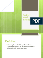 Auditory Learning Method ppt