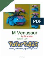 MVenusaur A4 Lined