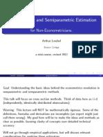 Non Parametric econometrics Slides
