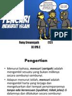 Mencuri Dalam Islam