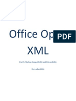 Office Open XML Part 5 - Markup Compatibility and Extensibility