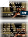 2013 Bar Examinations