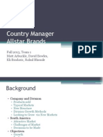 Country Manager Final Presentation