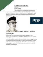 Lista Presidentes De Honduras.docx