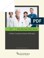 2012 What Physicians Want! Survey
