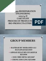 Bioseparation Citric Acid