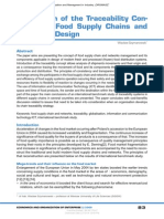 Application of the Traceability Concept Into Food Supply Chains and Networks Design