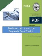 Practica de Hidraulica de Medicion de Reynolds