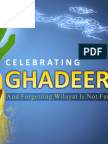 Celebrating Ghadeer and Forgetting Wilayat is Not Fair