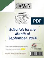 DAWN Editorials - September, 2014