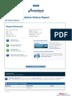 Autocheck VIN Score Example Report