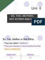 unit 8 additions
