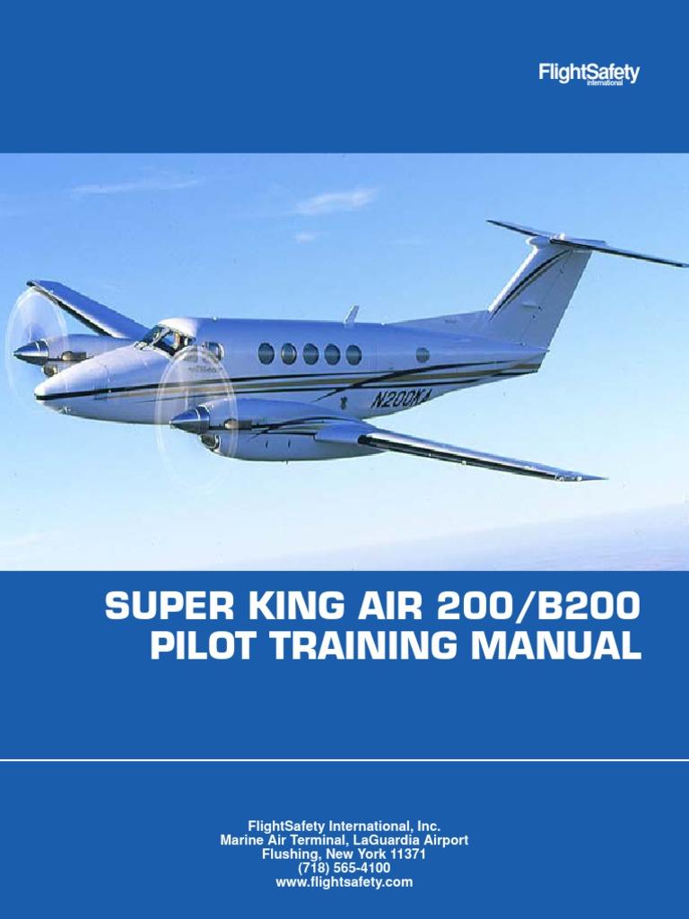 super king air 200 b200 pilot training manual aircraft flight rh scribd com king air c90 flight manual manual king air c90 portugues