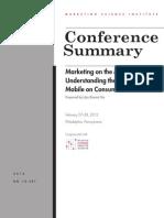 Mobile Wharton MSI CS 12-301 Mobile COnference Report