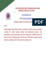 Journal Impact Factor 2012