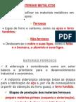 DISCIPLINA EL. MAQUINAS - Materiais Metálicos Ferrosos e Não Ferrosos.ppt